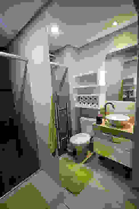 Apartamento AD Banheiros modernos por Tejo Arquitetura & Design Moderno
