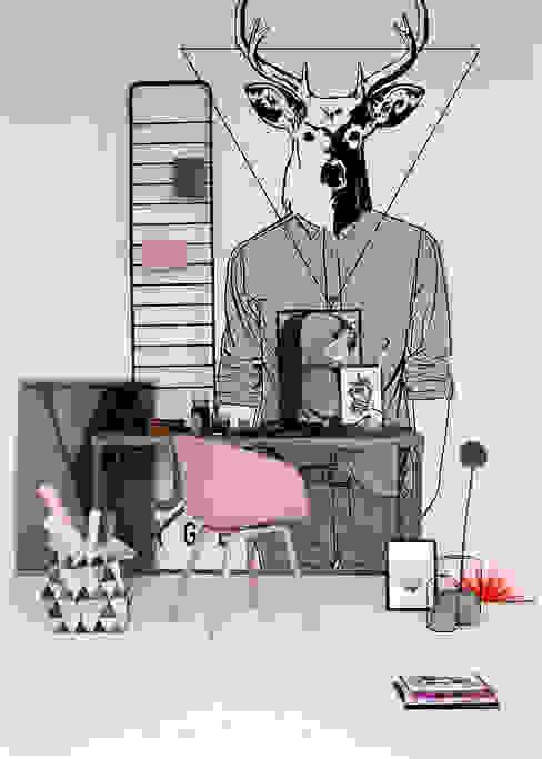 Hipster Deer Oficinas de estilo escandinavo de Pixers Escandinavo