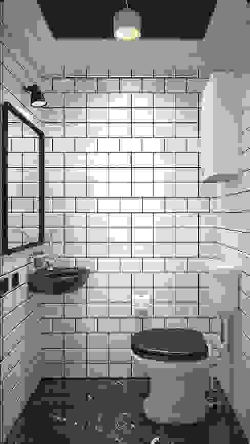 Salle de bain industrielle par Акимов Industriel