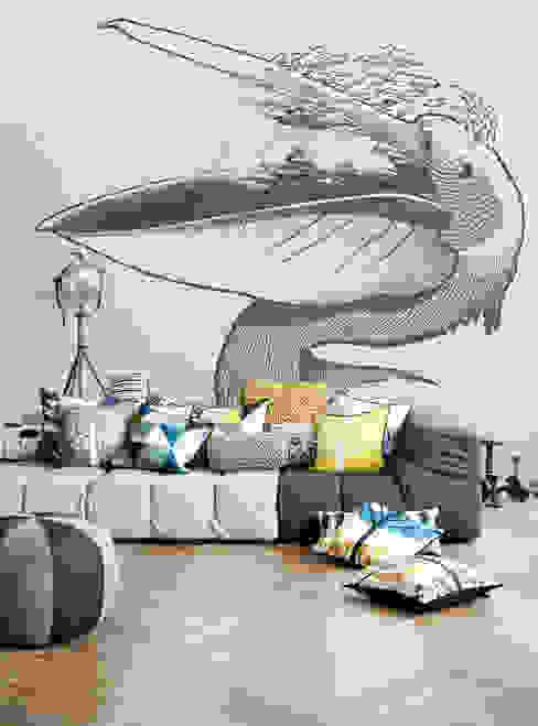 Pelican Modern living room by Pixers Modern