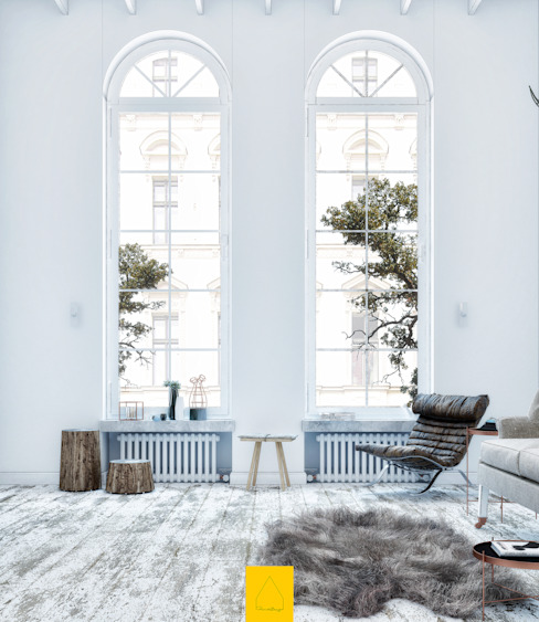 Livings de estilo escandinavo de Penintdesign İç Mimarlık Escandinavo