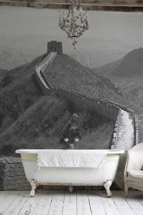 Great Wall Eclectic style bathroom by Pixers Eclectic