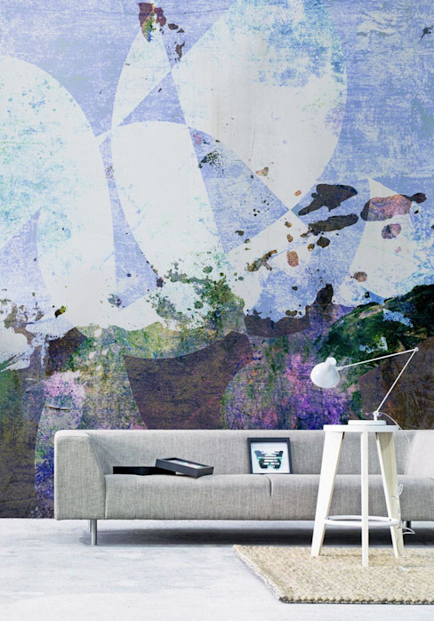 Watercolor graphics Scandinavian style living room by Pixers Scandinavian