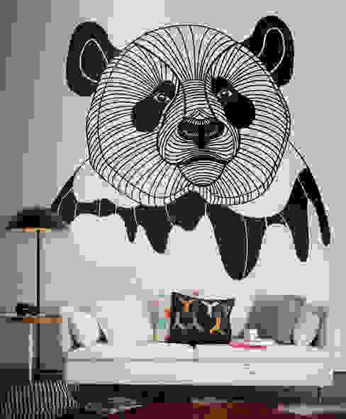 Panda 现代客厅設計點子、靈感 & 圖片 根據 Pixers 現代風