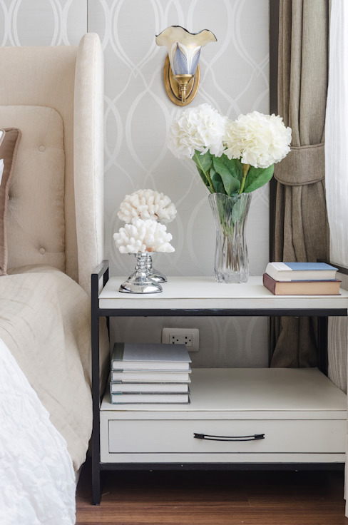 Beautiful Bedside Table Modern style bedroom by Gracious Luxury Interiors Modern