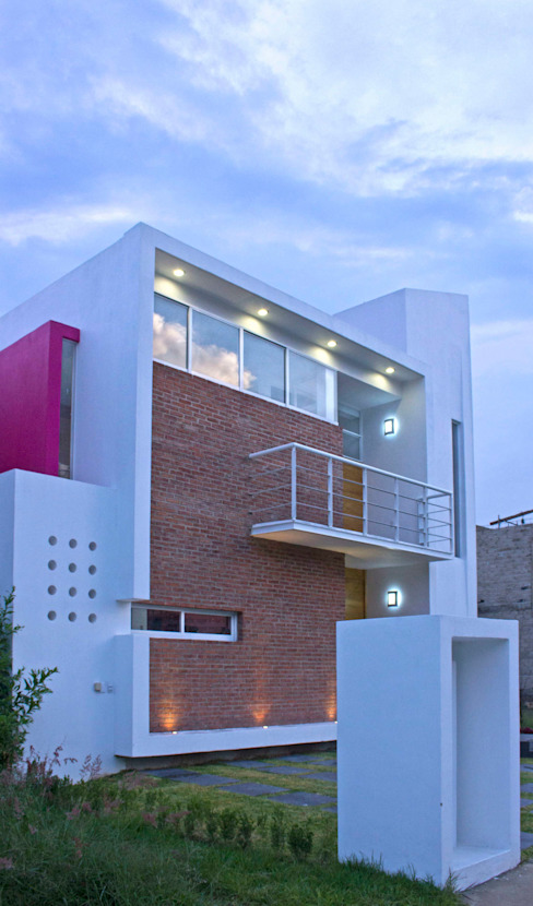 Fachada Casa Felix Casas minimalistas de homify Minimalista Ladrillos