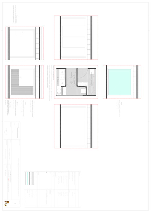 PT - Detalhe da Utility Box EN -  Detail da Utility Box: Casas  por Office of Feeling Architecture, Lda,