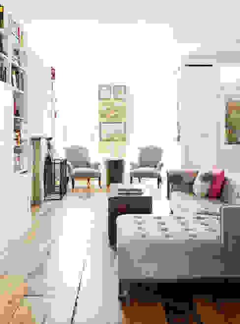 Brooklyn Brownstone Modern Living Room by Lorraine Bonaventura Architect Modern Bricks