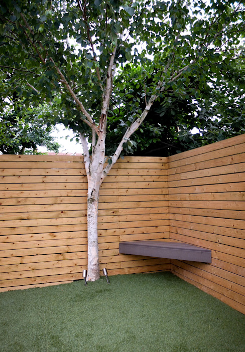 Small, low maintenance garden Taman Minimalis Oleh Yorkshire Gardens Minimalis Kayu Wood effect