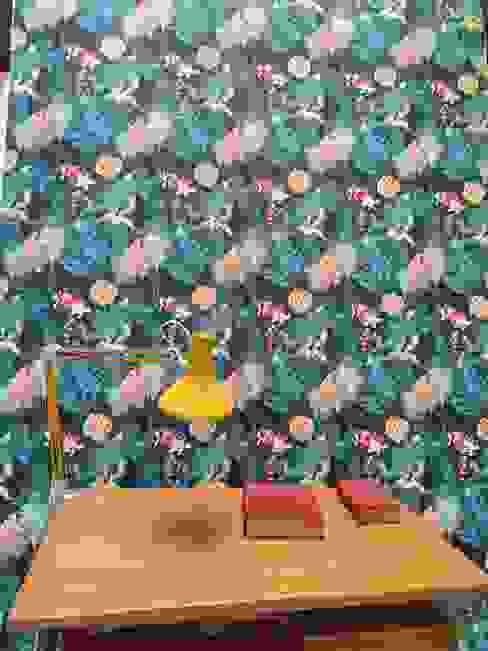 buckingham, papier peint de collection - Le presse papier LE PRESSE PAPIER / PAPIER PEINT Maisons modernes Bleu