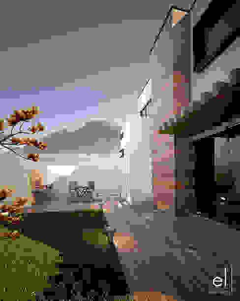 Casa Zibata: Casas de estilo  por ERIKA LIN , Moderno Madera Acabado en madera