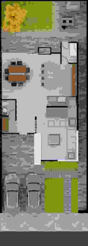 Casa Zibata: Casas de estilo  por ERIKA LIN , Moderno Concreto