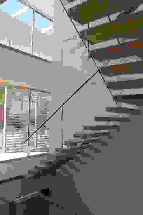 Floating Steps of Beauty in Long Island Minimalistyczny korytarz, przedpokój i schody od EeStairs | Stairs and balustrades Minimalistyczny Drewno O efekcie drewna