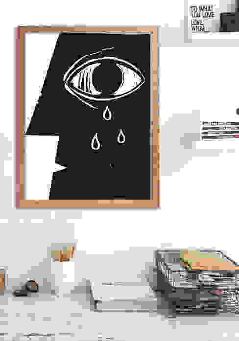 Eye Oficinas de estilo moderno de Pixers Moderno