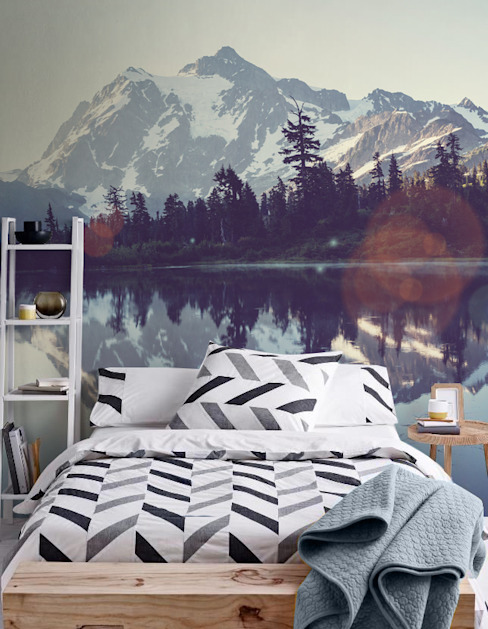 Lake Scandinavian style bedroom by Pixers Scandinavian