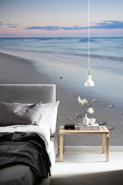 Beach Modern Bedroom by Pixers Modern