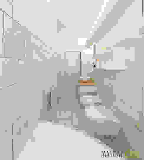 bagno effetto spa Bagno moderno di Azzurra Lorenzetto Moderno Piastrelle