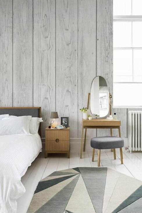 White boards Pixers Scandinavian style bedroom Grey