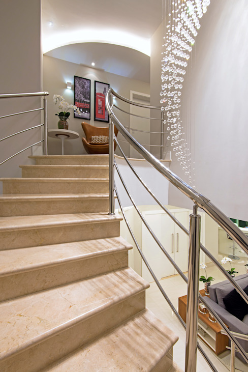 الممر والمدخل تنفيذ Designer de Interiores e Paisagista Iara Kílaris, حداثي رخام