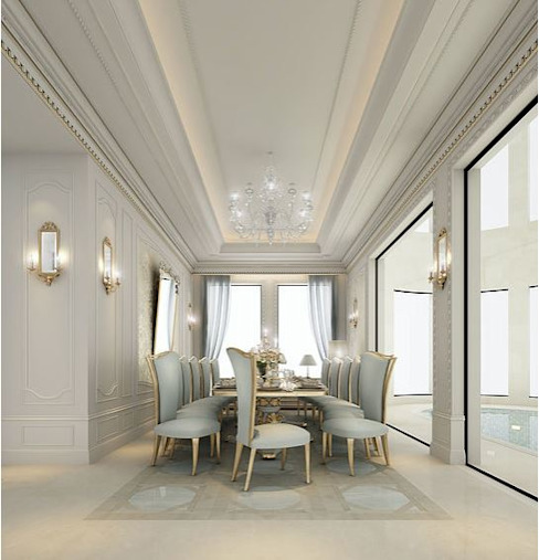 Gorgeous Dining Room Design Mediterranean style dining room by IONS DESIGN Mediterranean Marble