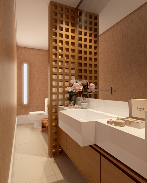 Modern bathroom by SEMARA BRITO - DESIGN PROJETOS E INTERIORES Modern