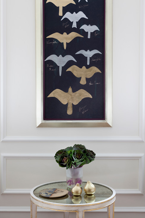birds in flight artwork :  Living room by Mel McDaniel Design ,