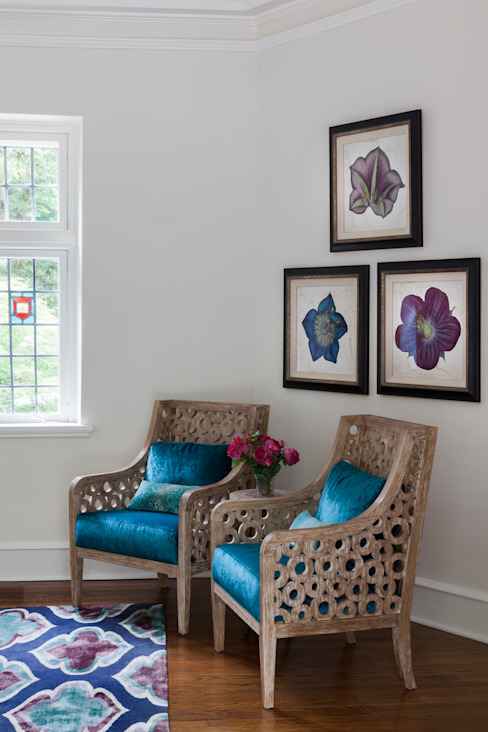 seating corner by Mel McDaniel Design Classic