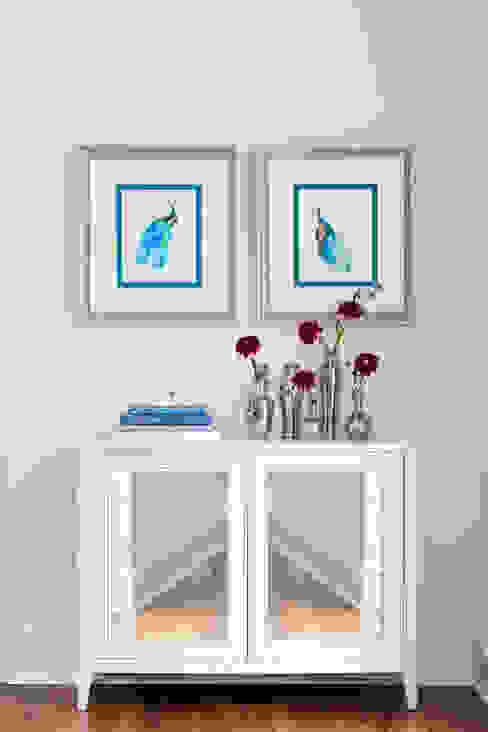 peacocks in blue : classic  by Mel McDaniel Design , Classic