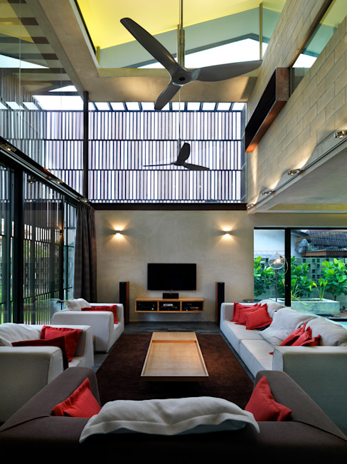 Living Room by MJ Kanny Architect Modern