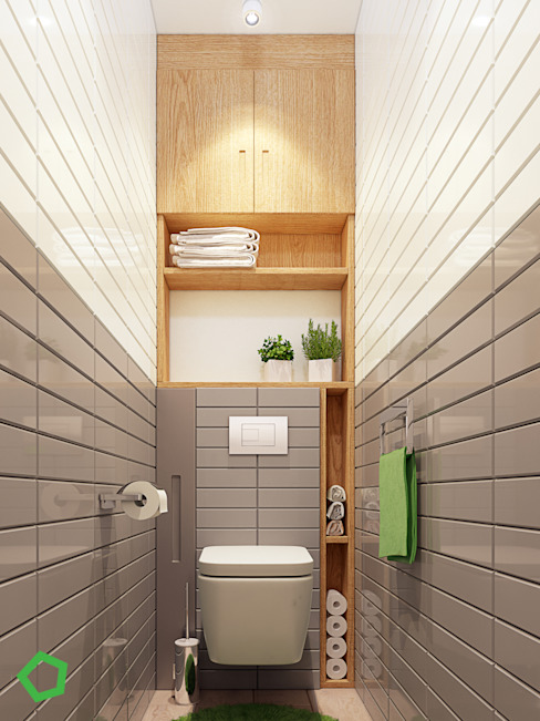 Polygon arch&des Minimalist style bathrooms