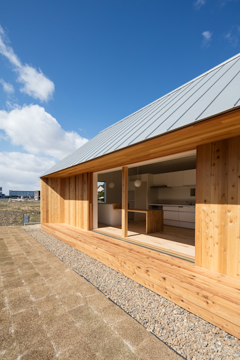 hm+architects 一級建築士事務所 Eclectic style windows & doors Wood Wood effect