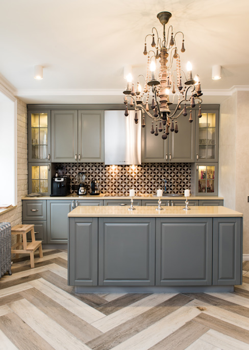 Kitchen by 3D GROUP, Classic Wood Wood effect