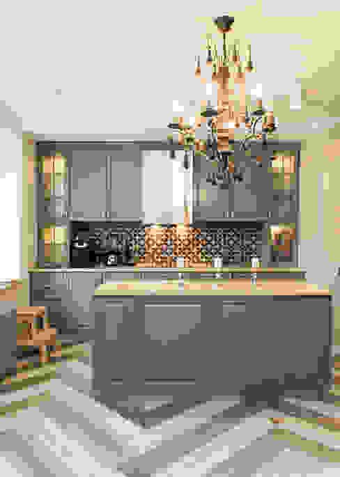 Кухня Кухня в классическом стиле от 3D GROUP Классический Дерево Эффект древесины