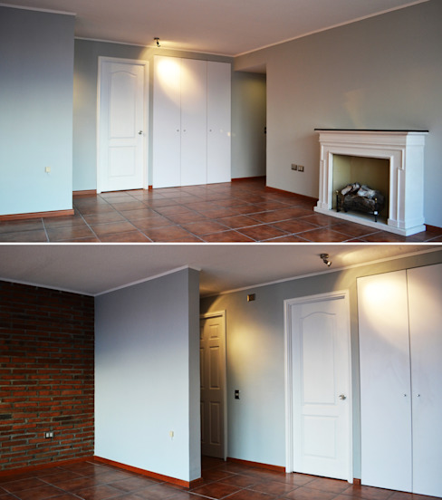 DEPTO. PSV. Livings de estilo minimalista de ESTUDIO BASE ARQUITECTOS Minimalista