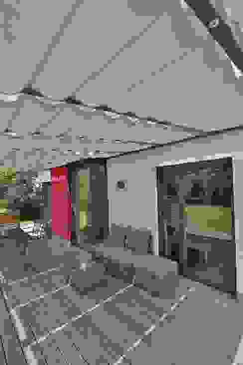 Toldo palillero para terraza o patio TOLDOS SPANNMAXXL.de Garden Accessories & decoration Textile Grey