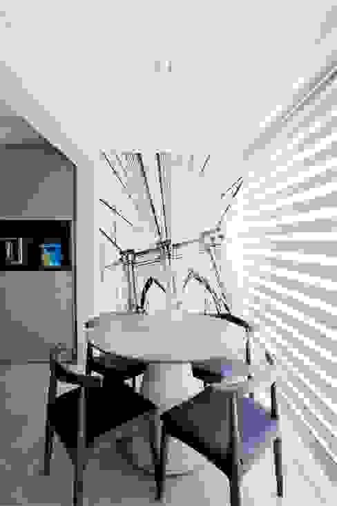 Sala de Jantar:  industrial por Michelle Machado Arquitetura,Industrial Concreto