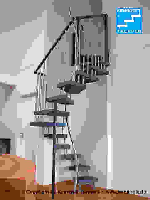 Modern corridor, hallway & stairs by KENNGOTT-TREPPEN Longlife Holz Metall Stein Modern