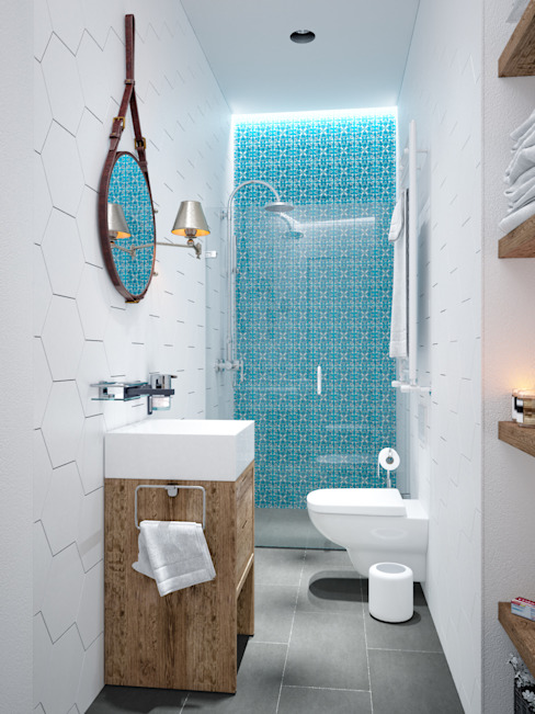 Scandinavian style bathroom by PRIVALOV design Scandinavian Ceramic