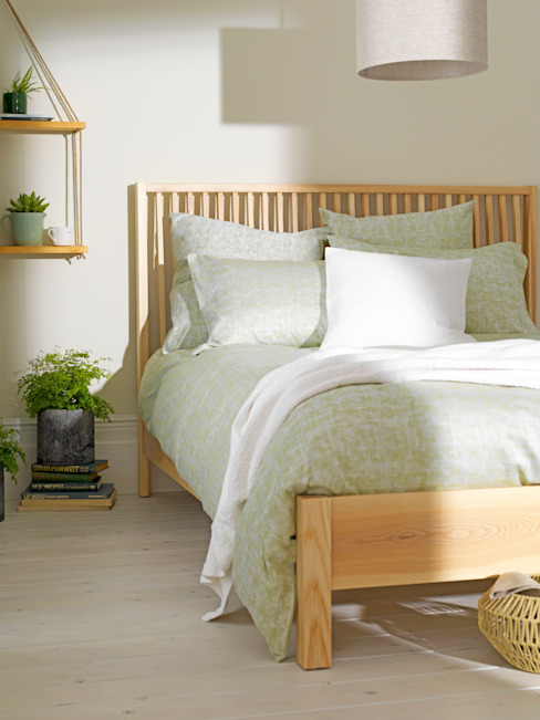 Fresco Green Bedding Set de Secret Linen Store Escandinavo Algodón Rojo