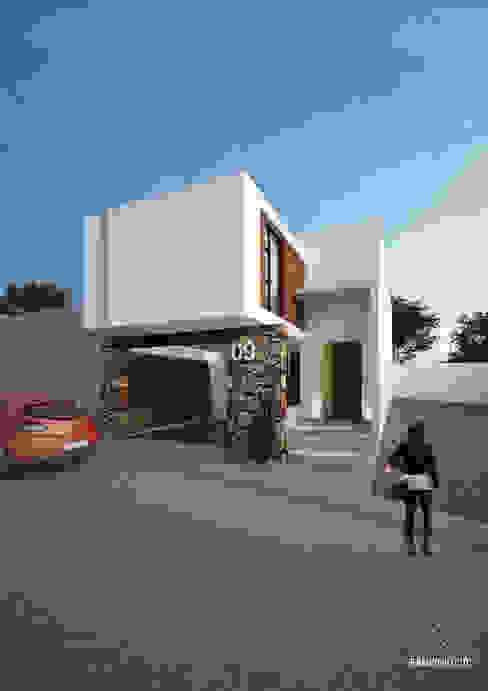 Casas de estilo  de FERAARQUITECTOS, Minimalista