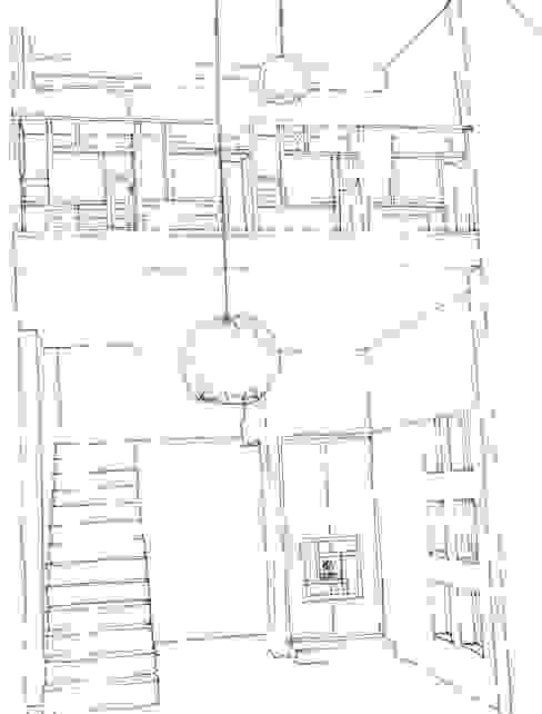 Asian style corridor, hallway & stairs by A3 Ateliê Academia de Arquitectura Asian