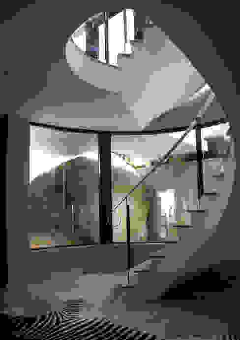 Couloir, entrée, escaliers modernes par Jenny Mills Architects Moderne