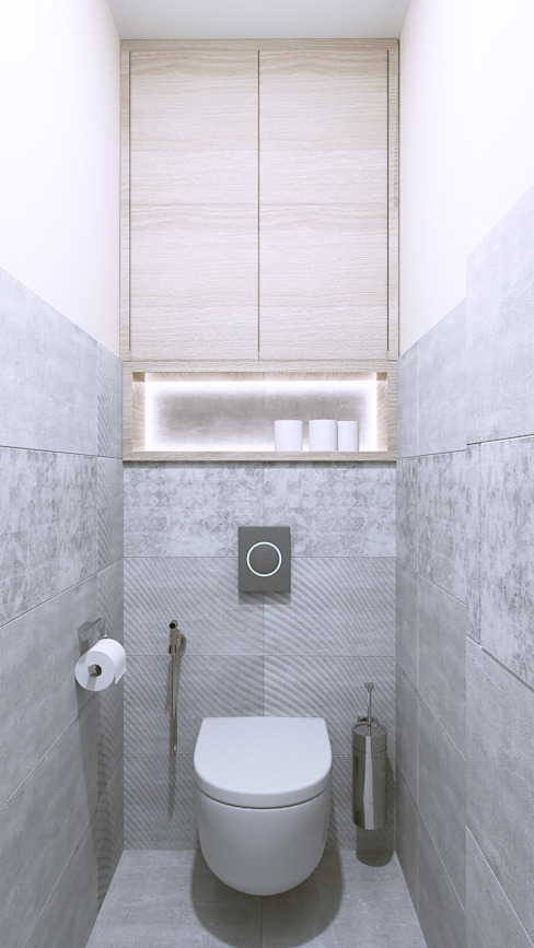 Minimalist style bathroom by Бюро9 - Екатерина Ялалтынова Minimalist