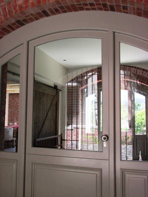 Arched Front Door + Side Lights Classic windows & doors by Window + Door Store Cape Classic