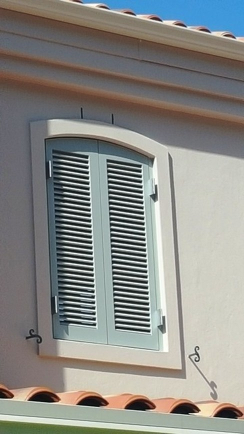 Arched Louvre Shutters Classic windows & doors by Window + Door Store Cape Classic