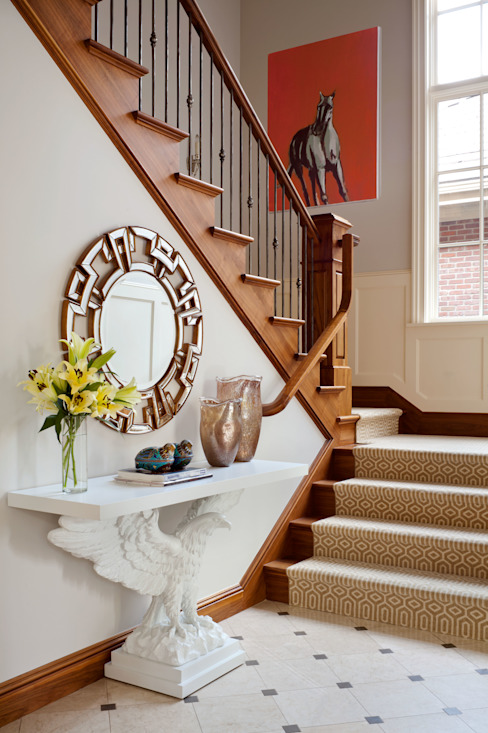 Eclectic style corridor, hallway & stairs by Andrea Schumacher Interiors Eclectic