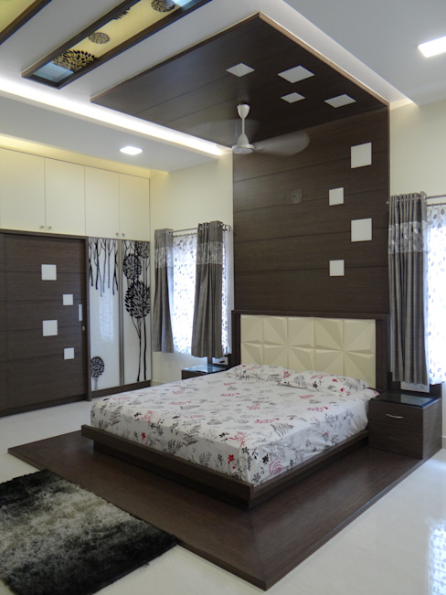 First floor master bedroom Modern style bedroom by Hasta architects Modern