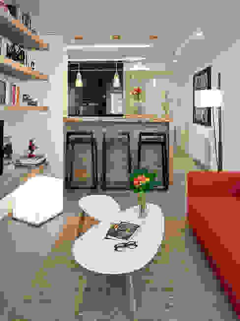 salón - open space Salas modernas de Molins Design Moderno