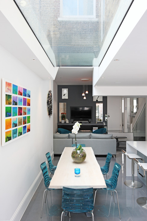 Battersea Town House:  Dining room by PAD ARCHITECTS, Modern