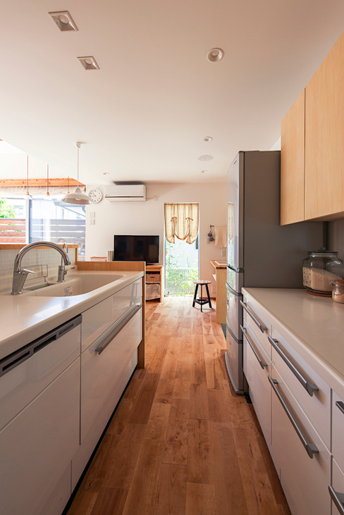 現代廚房設計點子、靈感&圖片 根據 祐建築設計事務所 現代風
